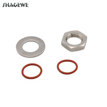 Beer Brewing 1/2 NPT Lock Nut and Flat Washer for Weldless Bi-metal Thermometer Install Kit Homebrew Kettle Mash Fitting 1 2 npt stainless steel hex nipple thin nut and flat washer set homebrew weldless bulkhead for beer keg kettle valve