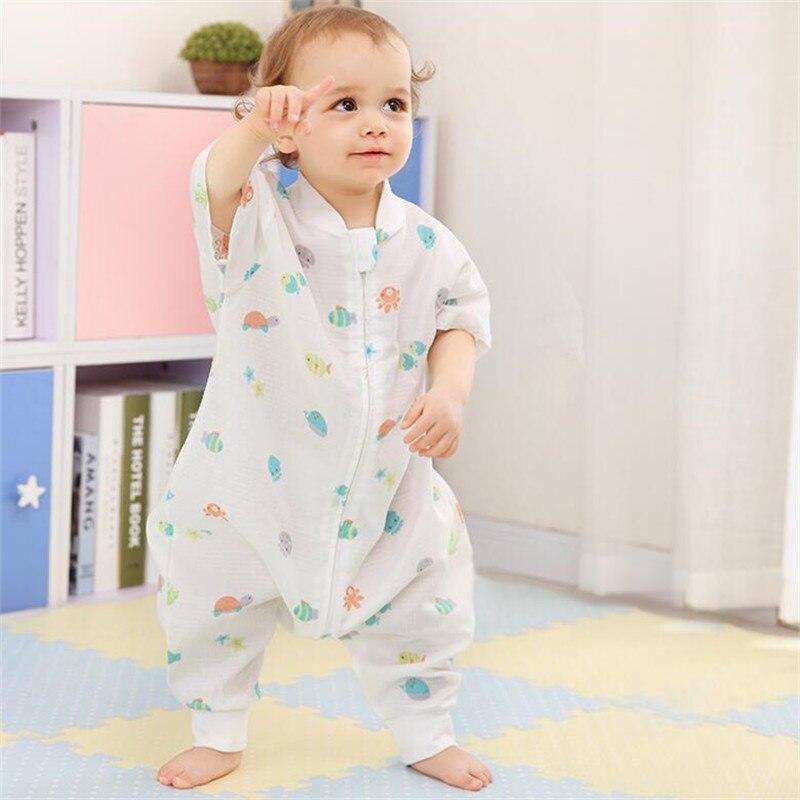 Baby Sleeping Bag Envelope For Newborns Kids 100% Muslin Cotton Thin Baby Coveralls For Summer Para Bebe Sacks Sleepsacks