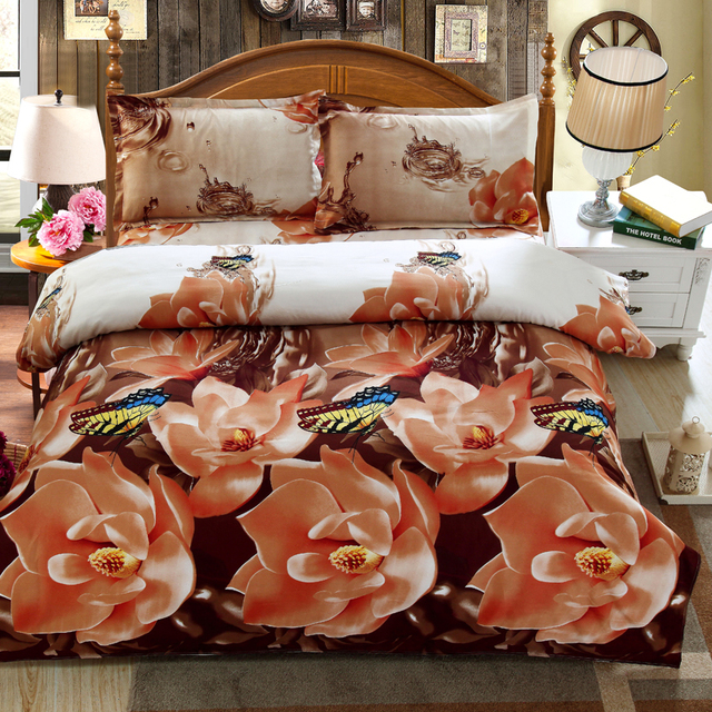 5310ba13f21 US $38.01 |New style wholesale 4pcs 3d comforter set for sale bedding set  online shopping duvet cover bed linen pillowcase queen size-in Bedding Sets  ...