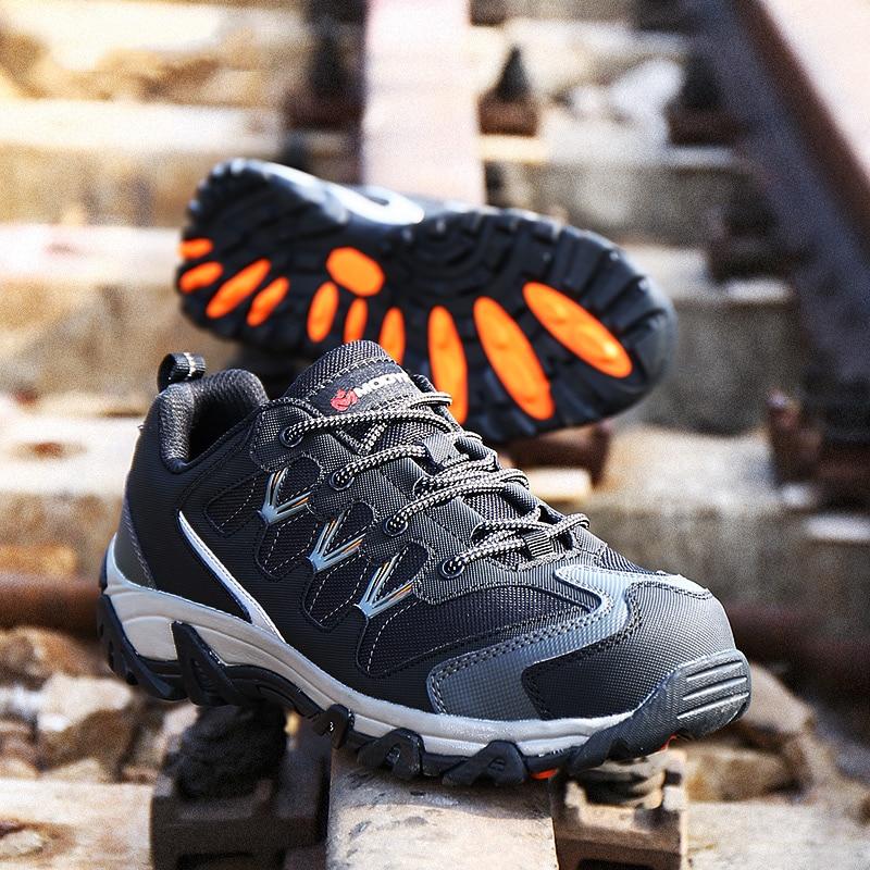 MODYF Erkekler Çelik Burunlu Iş Güvenliği Ayakkabı Rahat - Erkek Ayakkabıları - Fotoğraf 6