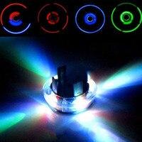 YÜKSEK Kalite Renkli LED Araç Oto Güneş Enerjisi Flaş Tekerlek Lastik Vana Caps Neon Işık Lambası