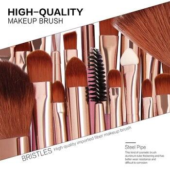 MAANGE 25pcs Makeup Brushes Set Beauty Foundation Power Blush Eye Shadow Brow Lash Fan Lip Concealer Face MakeUp Tool Brush Kit 5