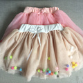 New 2017 summer girls baby tutu skirts princess skirts children color soft veil lovely balls kids Ball Gown skirts