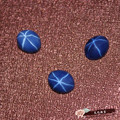 oval shape created sapphire star stone corundum cabochon gemstone beads for jewelry making DIY faceted gemstones blue stones