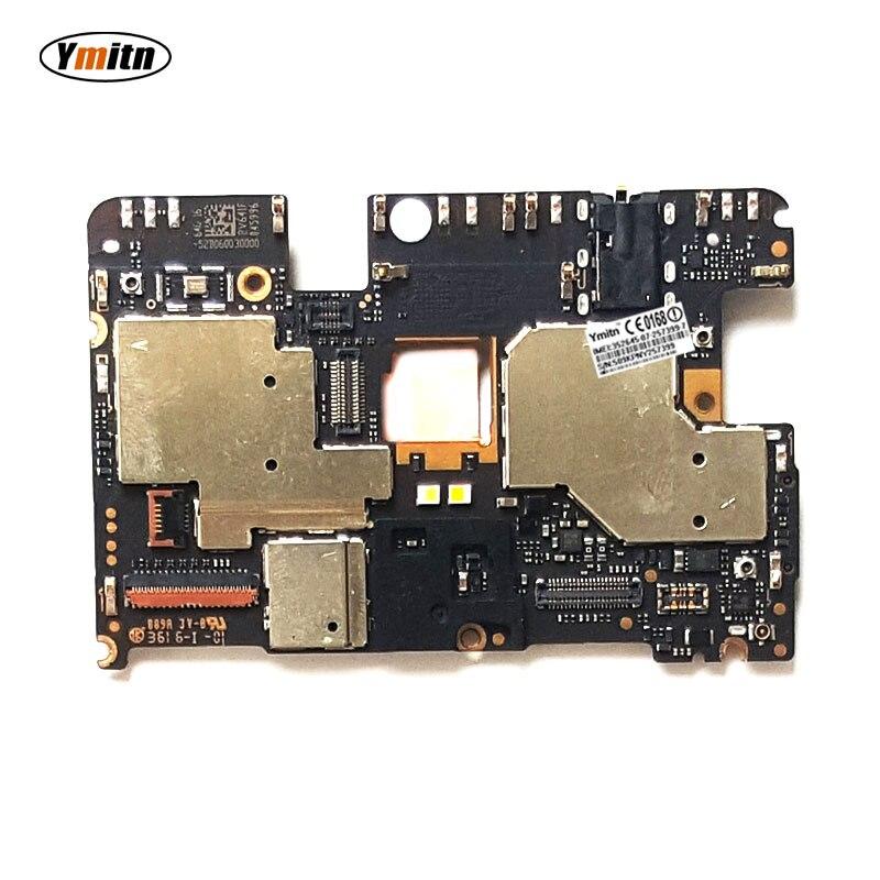 Ymitn Mobile Électronique panneau carte mère Carte Mère débloqué avec puces Circuits Pour Xiaomi RedMi hongmi NOTE4 NOTE 4