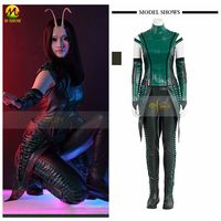 High Quality Guardians of the Galaxy 2 Mantis Cosplay Costume Superhero Halloween Green Suit for Adult Women Customized Size