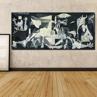 Spain France Picasso Guernica 1937 Germany Figure Painting Abstract Drawing Spray Oil Painting Frameless Home Decor
