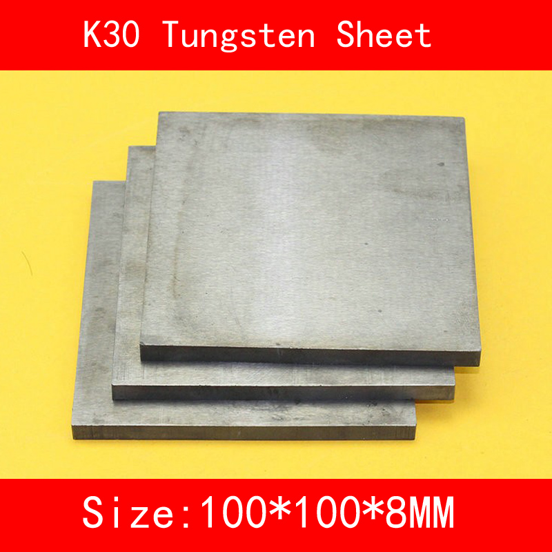8*100*100mm Tungsten Sheet Grade K30 YG8 44A K1 VC1 H10F HX G3 THR W Tungsten Plate ISO Certificate 16 100 100mm tungsten sheet grade k30 yg8 44a k1 vc1 h10f hx g3 thr w tungsten plate iso certificate
