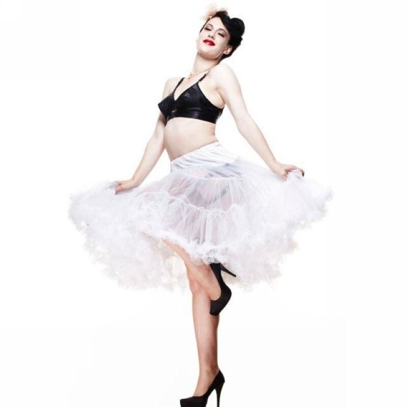 20 couleurs 65 cm tissu doux femmes jupon Long Sexy plissé en mousseline de soie jupon Rockabilly jupe Tulle Tutu dame pettijupe|women pettiskirt|chiffon petticoats|skirt tulle - title=