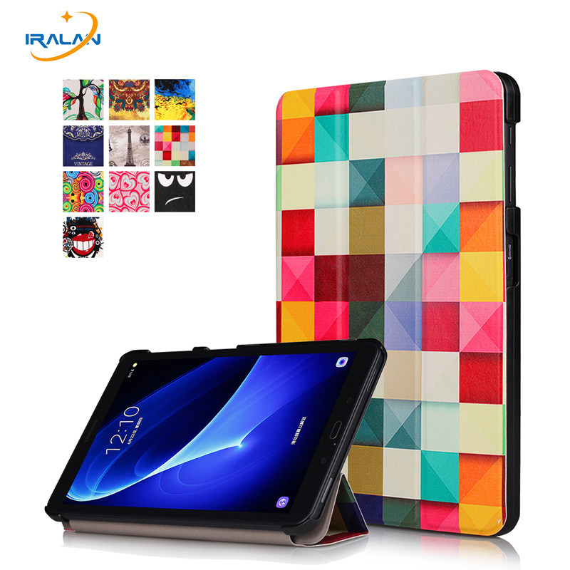 2018 Hot PU Leather cover For Samsung Galaxy Tab A 10.1 2016 T585 SM-T580 Ultra Slim Magnetic Smart stand Case+stylus+film ultra thin slim magnetic luxury folio stand leather case sleep smart sleeve cover for samsung galaxy tab pro s w700 sm w700 12