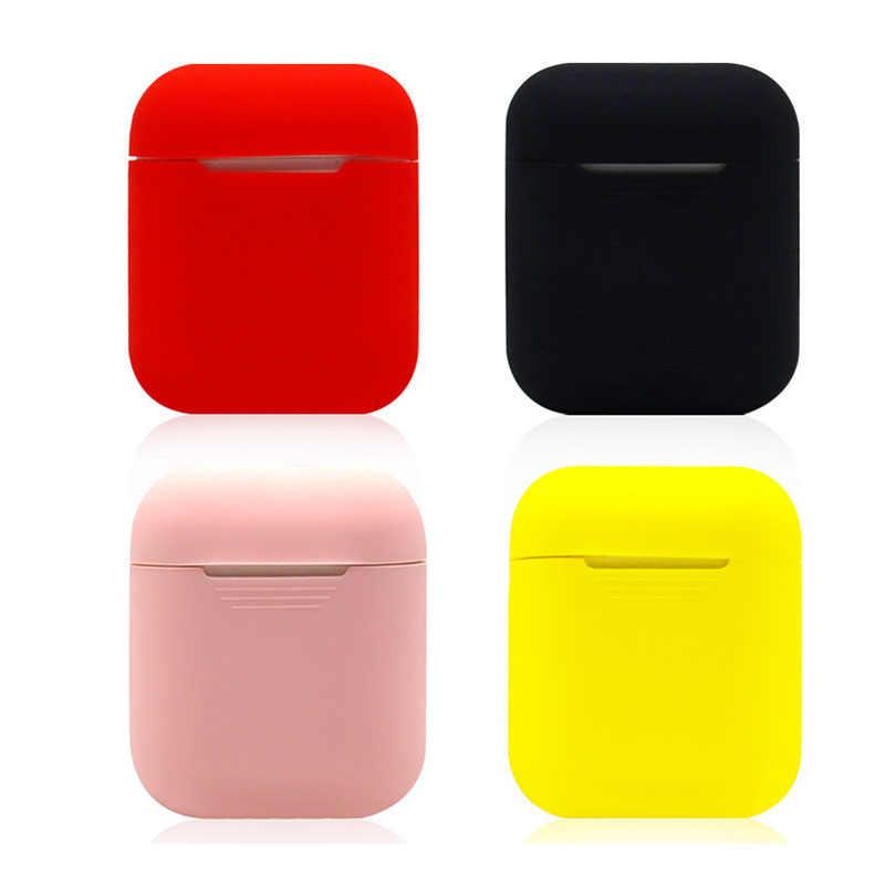 BOORUI Silicone Mềm Trường Hợp cho AirPods Chống Sốc dành cho Thông Minh Tai Nghe Nhét Tai Siêu Mỏng Bảo Vệ Ốp Lưng với fashional màu sắc