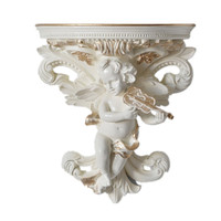 Cupid 3D Wall Sticke Creative Resin Angel Wall Hanging Crafts European Home Decorations Wall Holder Hanging Shelf R325