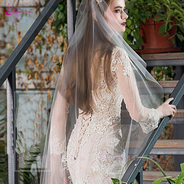 Waulizane Chic Organza Bridal Gowns Exquisite Embroidery Appliques O-Neck 2 In 1 Detachable Train Wedding Dress Customize Made 5