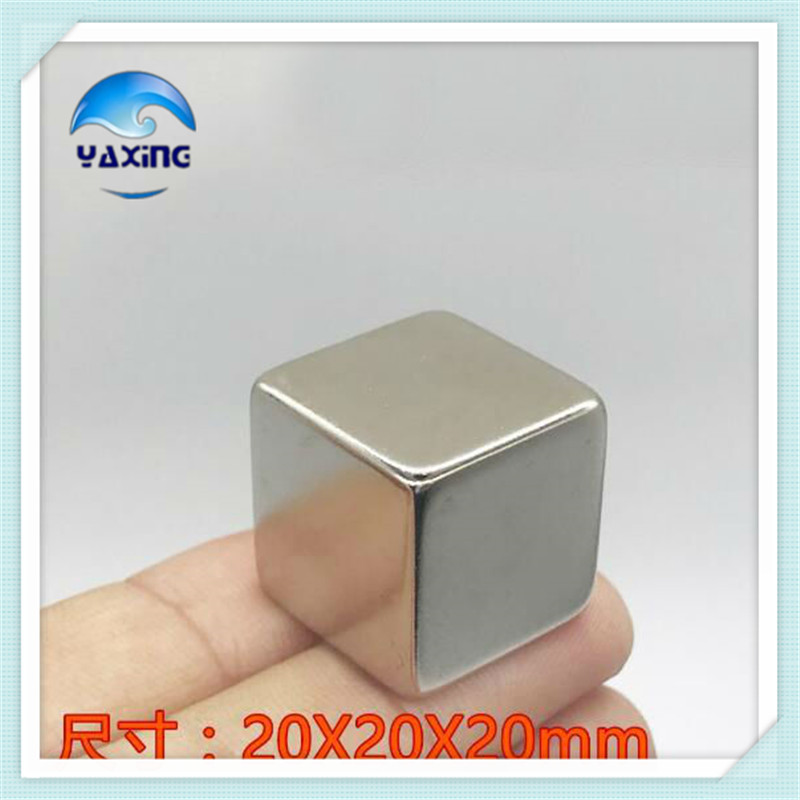 1PCS imanes 20X20X20mm Strong Rare Earth Block square Neodymium Magnet 20*20*20mm  NdFeB Cuboid Magnets20mmx20mmx20mm new arrival neodymium magnet imanes n35 25x10x3mm strong ring countersunk rare earth new arrival 2015 women jackets coats