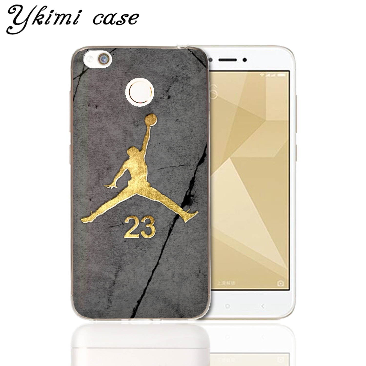 62169f8d692f Ykimi case New back cover For Xiaomi Redmi 4X case Fashion No. 23 Jordan  transparent soft TPU silicone capa-in Fitted Cases from Cellphones ...