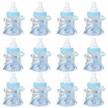 12 шт прозрачный, конфеты коробки для шоколада пластиковая кормушка Кормление бутылка для свадьбы День рождения, детский душ сувениры для материнства подарки