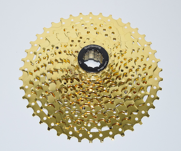 2017 NEW ARRIVAL 11 42T 11 SPEED CASETTE MOUNTAIN BIKE FREEWHEEL 33 SPEED GOLDEN SUNSHINE CASSETTE