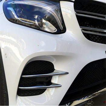 WELKINRY car auto cover styling for Benz GLC sport model 2016 2017 2018 ABS chrome front head grille fog lamp light trim