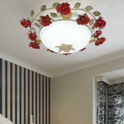 Rose Flower LED lampy sufitowe sypialnia romantyczny korytarz balkon lampy do salonu i latarnie lampy sufitowe wl3231104