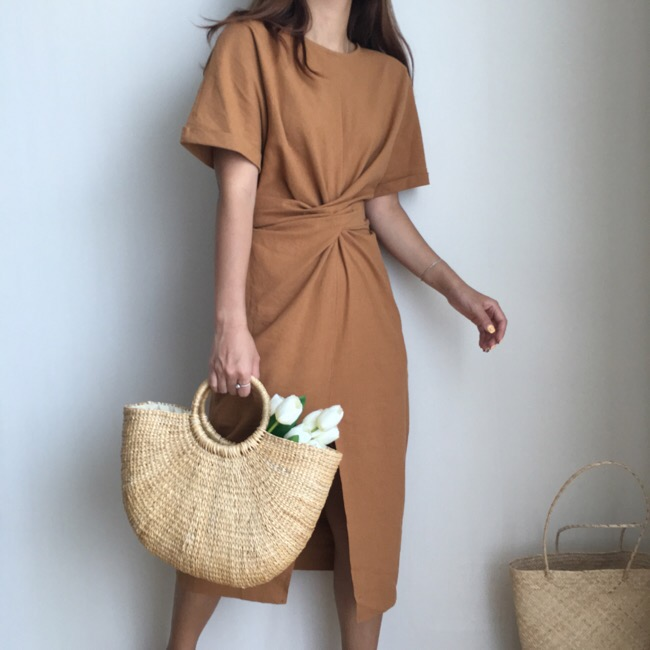 a4ffb6256e Detail Feedback Questions about Summer Wrap Dress Women Loose Simple Ethnic  Long Side Split Bandage White Green Brown Korean Dress 2018 WF66 on ...