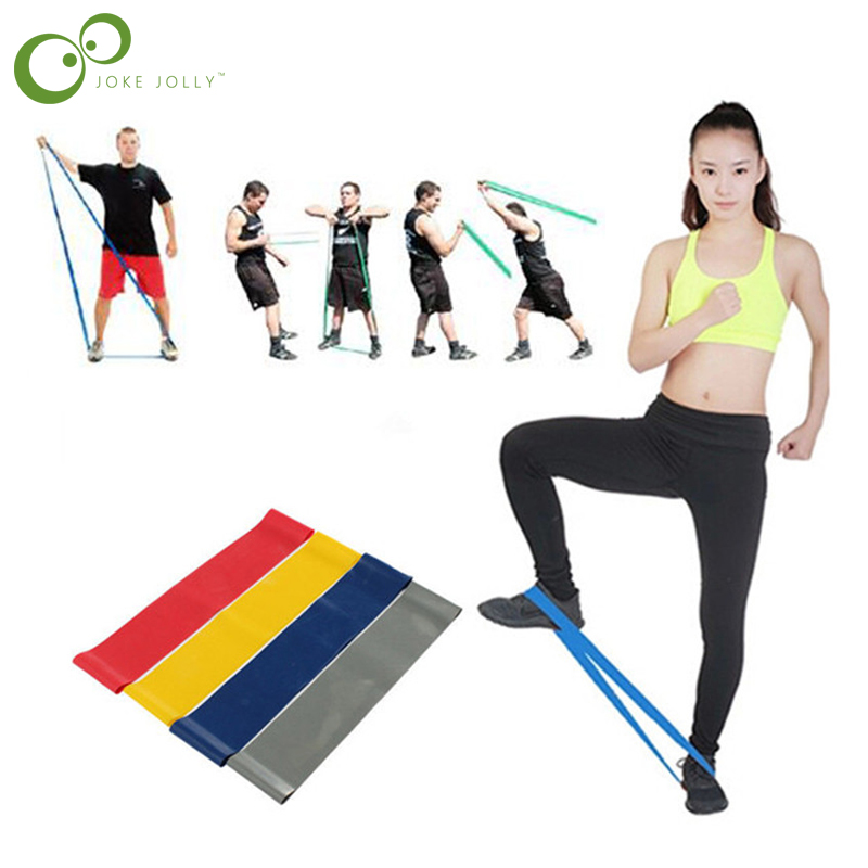 Glorieus 4 Stks/set 2019 Nieuwe Hot Multi-gekleurde Pilates Yoga Crossfit Latex Fitness Weerstand Bands Workout Oefening Band Gratis Verzending Obstructie Verwijderen