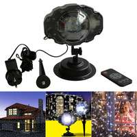 Mini Christmas Snowfall Projector Moving Snow Outdoor Garden Lamp Snowflake Light For Xmas Party LB88
