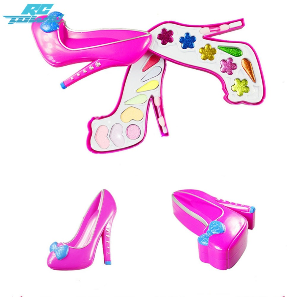 Pretend Play Generous Rctown 1set Baby Pretend Play Cosmetics Toys High-heeled Shoes Shaped Make Up Tools Box Xmas Gifts For Girls Zk30