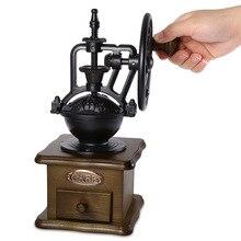 Retro Tarzı kahve değirmeni Manuel El Kahve Makinesi Çapak Mısır Değirmeni Öğütücüler El-krank Silindir Kahve Değirmeni Kahve Ar...
