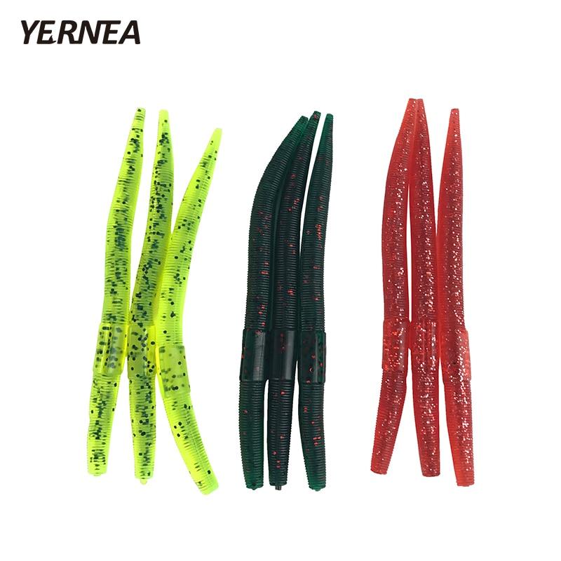 Yernea 30pcs/Lot 12.5cm 3 Colors Lifelike Soft Bait Road Bionic Simulation Earthworms Fishy Smell Fishing Lures