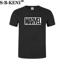 2018 Hot Fashion MARVEL Print Men t-shirt 100% Cotton short sleeves Casual male tshirt marvel t shirts men Free shipping(China)