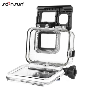 Image 2 - SOONSUN Waterproof Housing Underwater Diving Protective Case w/ Drawstring Bag for GoPro Hero 5 6 7 Black for Go Pro Accessories