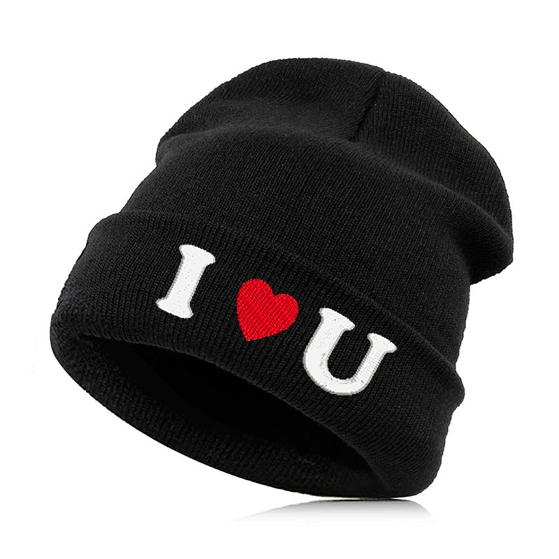 ecc3f8b3009 Beanie Hat Skullie Cap Slouchy Winter Autumn Embroidery Quote Slogan Motto  Words Cool Punk Men Women