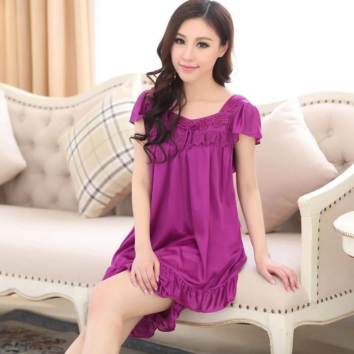 Sexy silk short pajamas