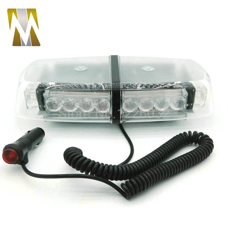 Car Roof Flashing Strobe Emergency Light New 24W DC 12V 24 LED Warning lights Project light bar light