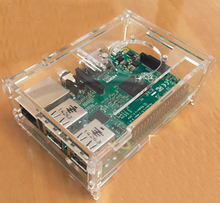 Free Shipping 5pc  raspberry pi 3 case can fit fan and heatsink Raspberry pie 3B / 2B / 1B + box