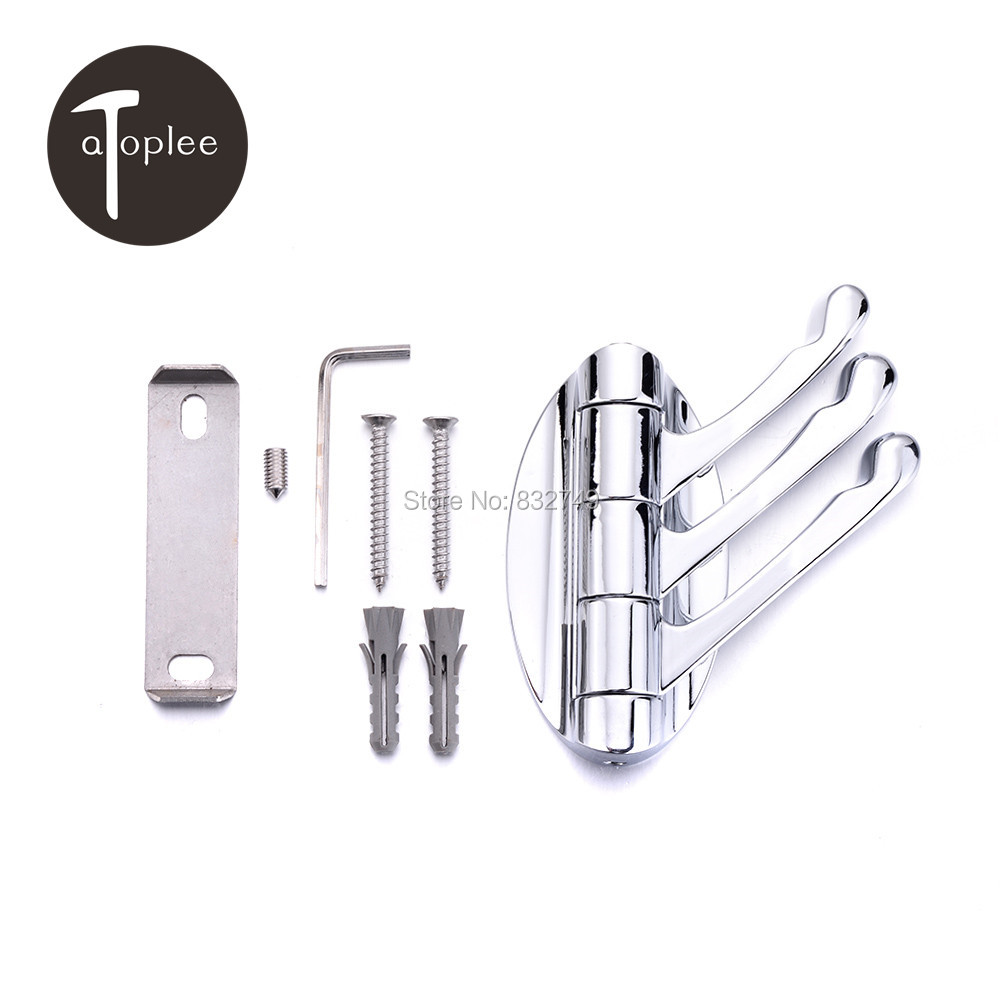 modern clothes hooks promotionshop for promotional modern clothes  - set home wall mount  hangers robe hooks modern alloy foldable tripleclothes hangers for bathroom kitchen