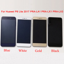 for Huawei P8 Lite 2017 LCD Screen PRA-LA1 PRA-LX1 PRA-LX3 LCD Display For Huawei P9 lite 2017 LCD Touch Screen Assembly Frame(China)