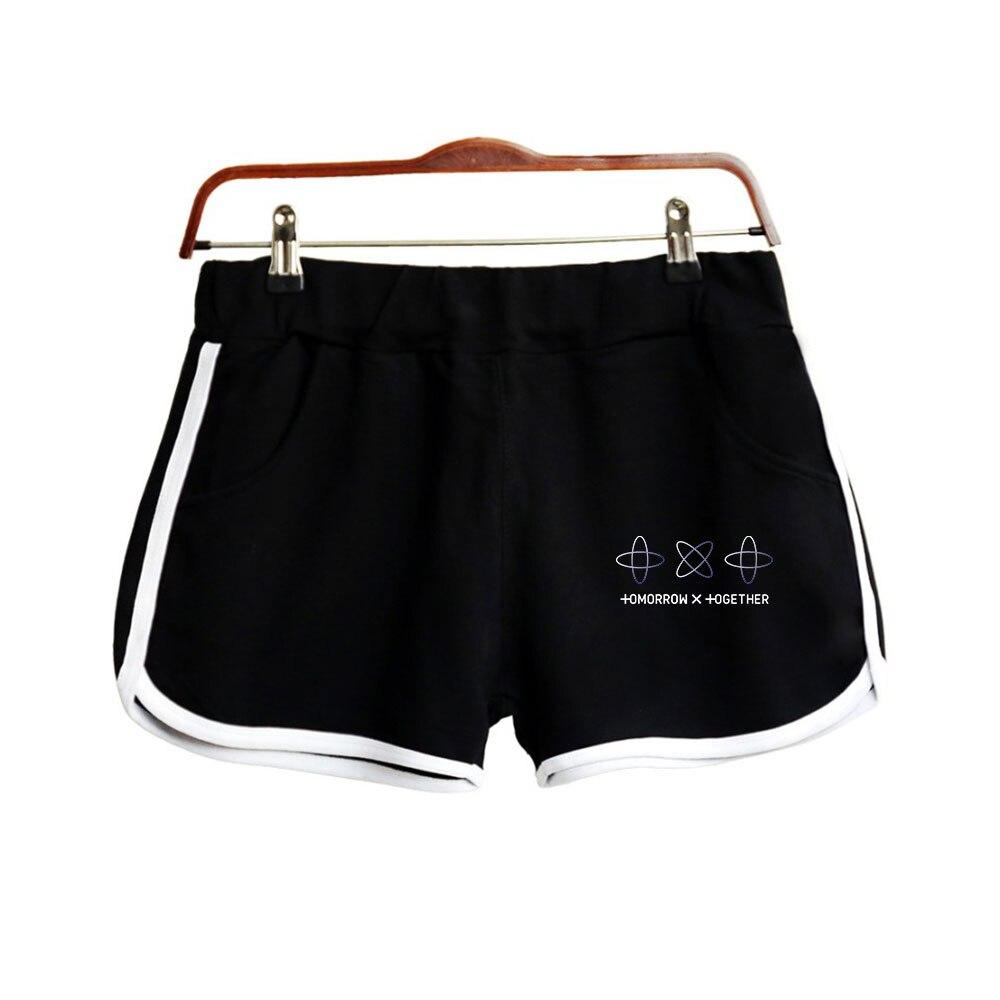 2019 Tomorrow X Together Print Women Summer Clohtes 2019 Hot Sale Casual Harajuku Ladies Sexy Shorts Kpops Fashion Plus Size XXL