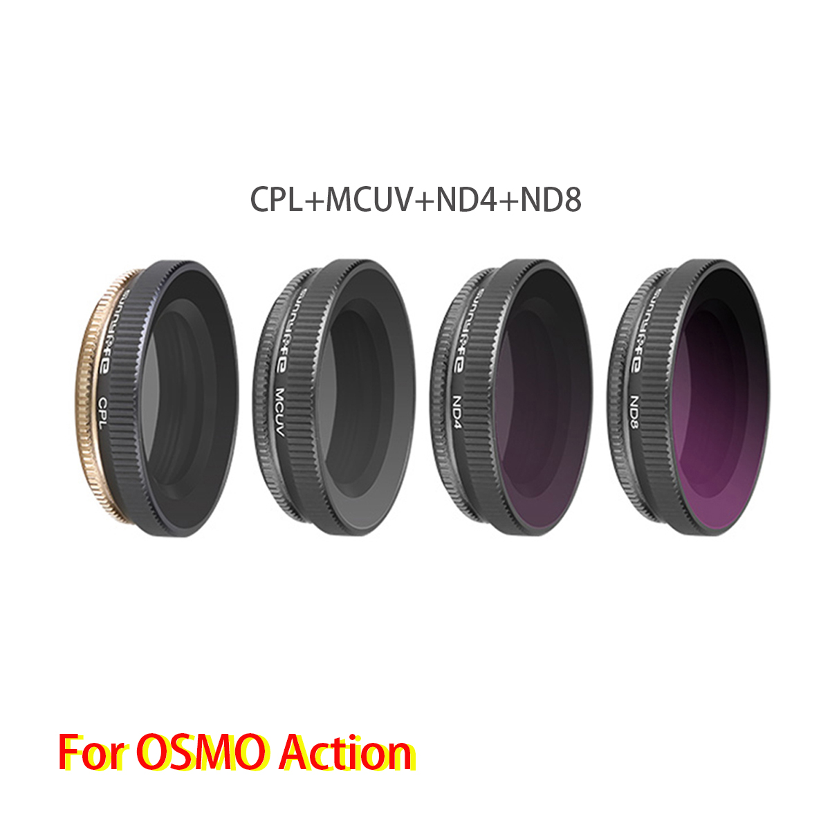 Image 2 - Adjustable High Quality Lens Filters Set 6 in 1 MCUV+CPL+ND4+ND8+ND16+ND32 for DJI OSMO Action Sports Camera Accessories-in Camera Filters from Consumer Electronics