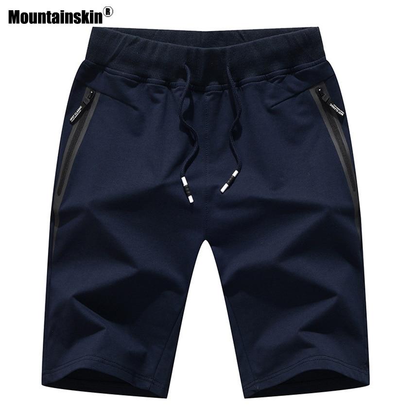 Mountainskin Summer New Men's Shorts Cotton Elastic Waist Jogger Casual Beach Shorts Male Board Shorts Mens Brand Clothing SA483