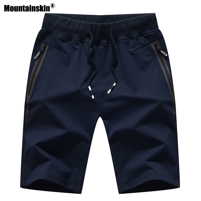 Mountainskin Summer New Men's   Shorts   Cotton Elastic Waist Jogger Casual Beach   Shorts   Male Board   Shorts   Mens Brand Clothing SA483