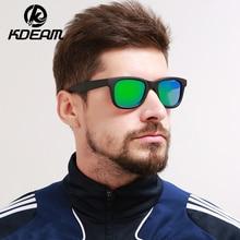 KDEAM Couple Sunglasses Women Brand Design Classical Polarized Sun Glasses Men UV400 oculos de sol Pink Frame With case KD9020A