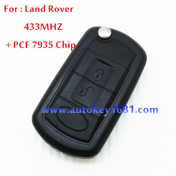 For Car Land rover RANGE ROVER Sport 3Button Remote flip key 434Mhz With PCF 7935 Chip