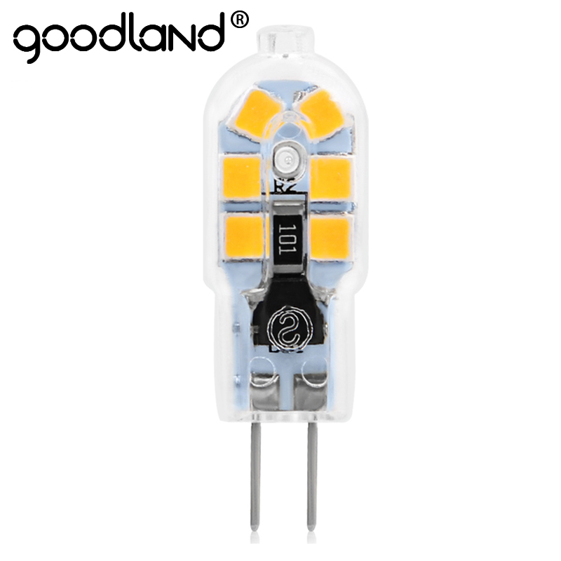 Goodland G4 LED Lamp 3W AC/DC 12V LED G4 Bulb Mini AC 220V 240V G4 LED Light SMD2835 Replace Halogen Chandelier Lamp g4 led bulb