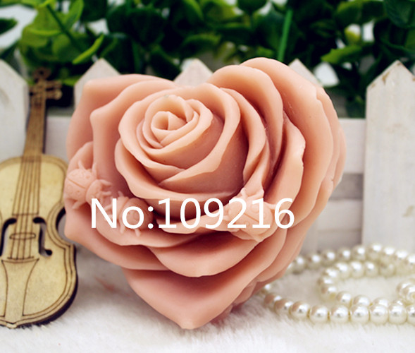 New Product!!1pcs 3D Rose (zx333) Food Grade Silicone Handmade Soap Mold Crafts DIY Mould