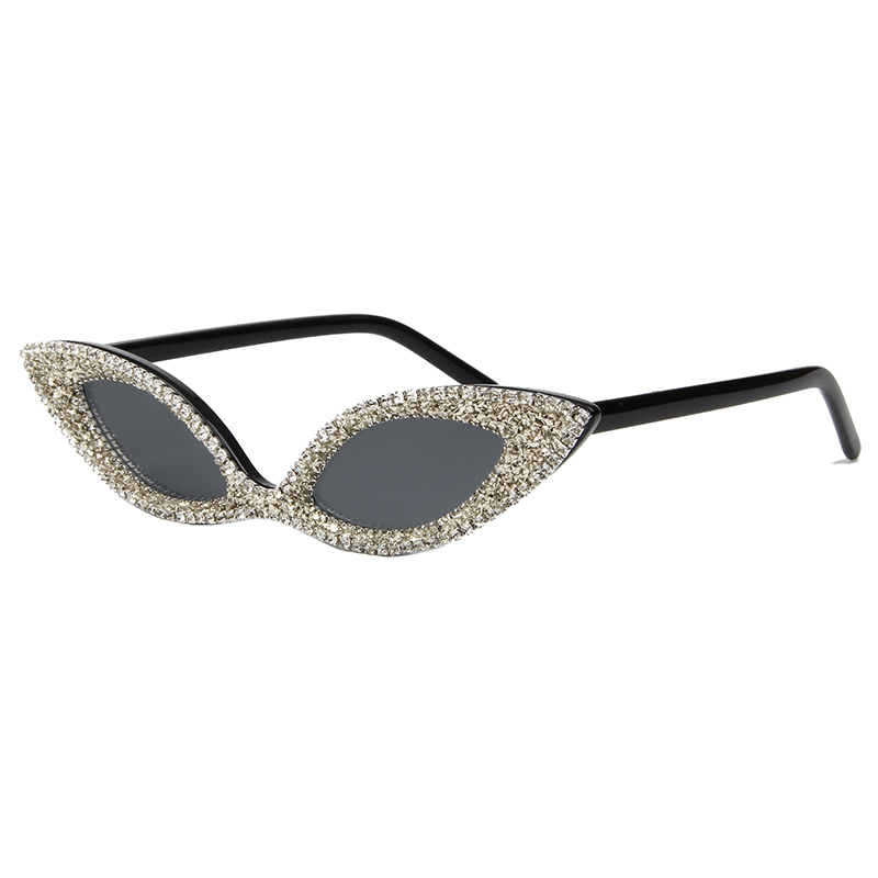 Sunglasses Rhinestone Vintage Shades Cat-Eye Women Ladies Luxury UV400 For Cute