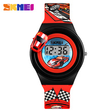 SKMEI Creative Cartoon Car Children Watches For Boys Kids Gi