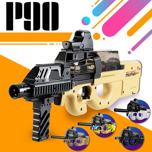 Image 3 - Pistola de juguete eléctrica P90 de Graffiti Edition, Arma de simulación de corte CS de asalto en vivo, pistola de balas de agua suave para exteriores, juguetes para niños