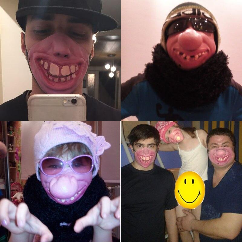 Fun Scary Horrible Mask Party Fool's Day Clown Latex Mask Kvinna Man - Semester och fester - Foto 5