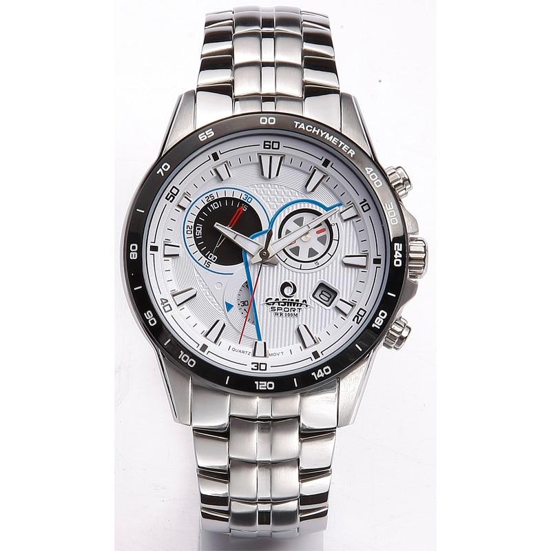 Luxury brand watches men 2016 fashion trends Multi-functional sport mens quartz wrist watch Waterproof CASIMA #8210 цена и фото